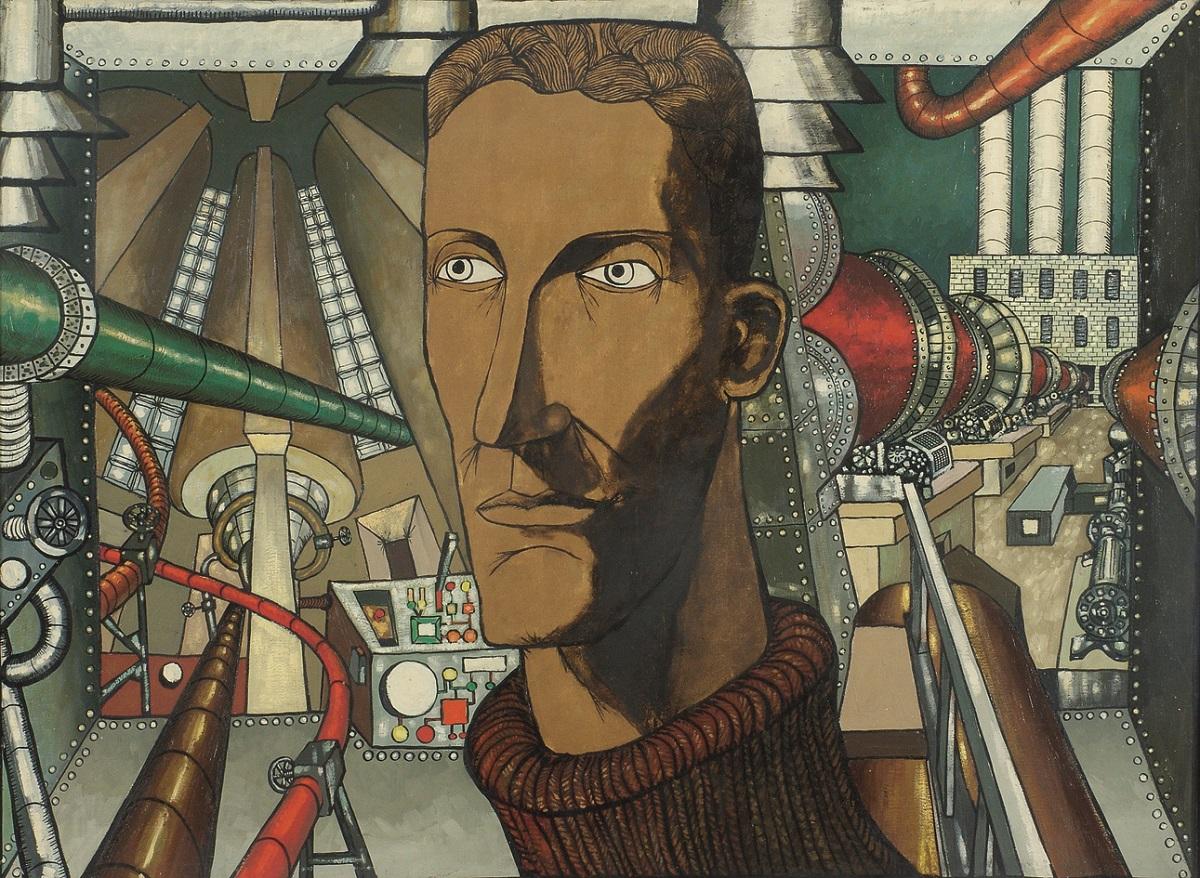 """Benon Liberski, """"Działoszyn"""", 1965, olej-płótno, 110 x 149,5 cm, fot. Mariusz Łukawski, wł. Miejska Galeria Sztuki w Łodzi (źródło: materiały prasowe organizatora)"""