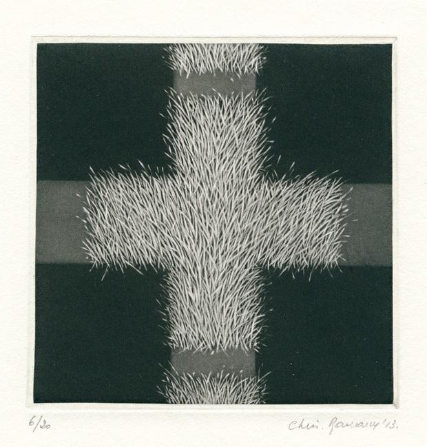 """Christine Ravaux, """"Chemin de croix II"""", 2013, C7, 9x9 cm (źródło: materiały prasowe organizatora)"""