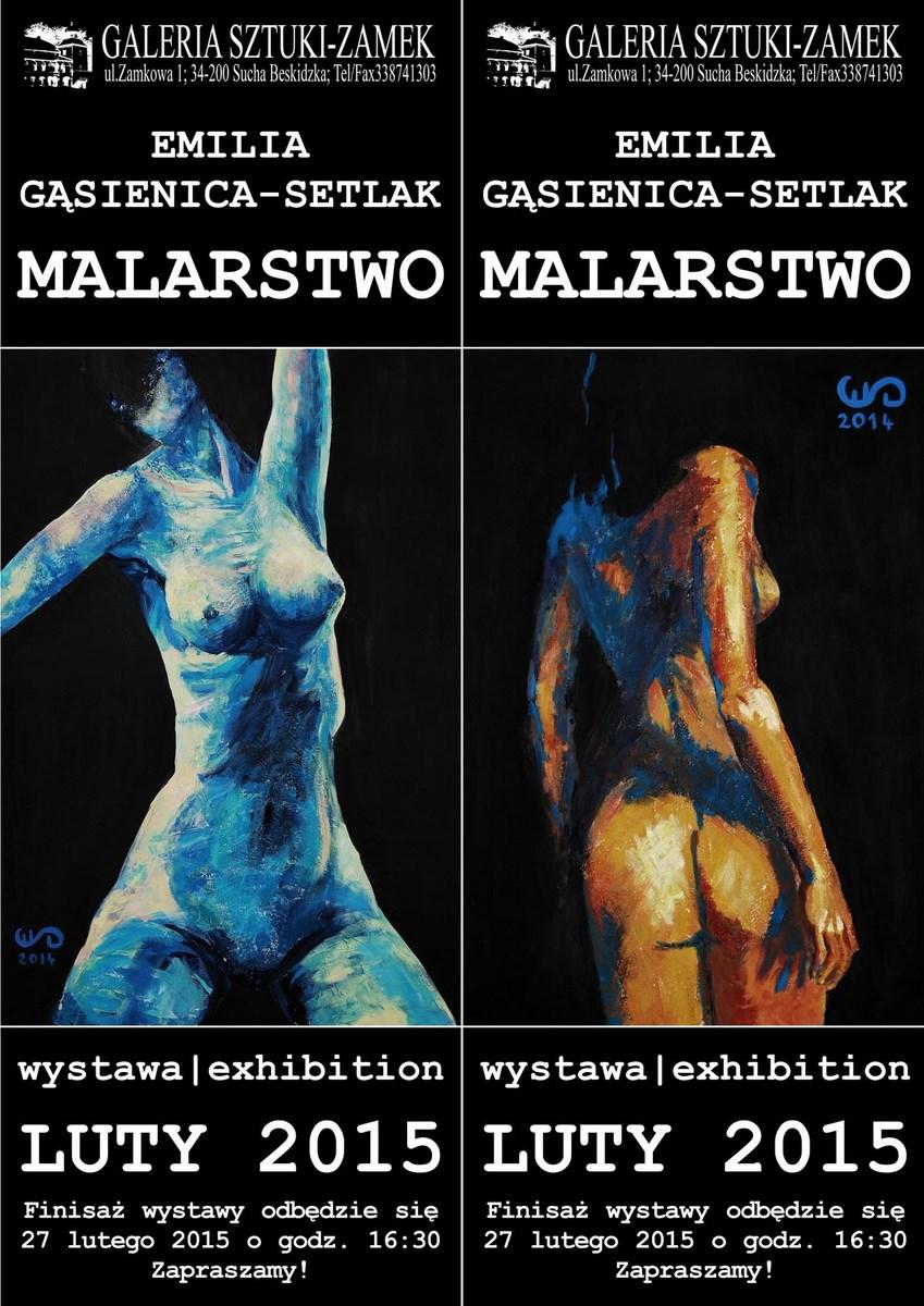 Emilia Gąsienica-Setlak, Malarstwo, Galeria Sztuki Zamek w Suchej Beskidzkiej (źródło: materiały prasowe organizatora)