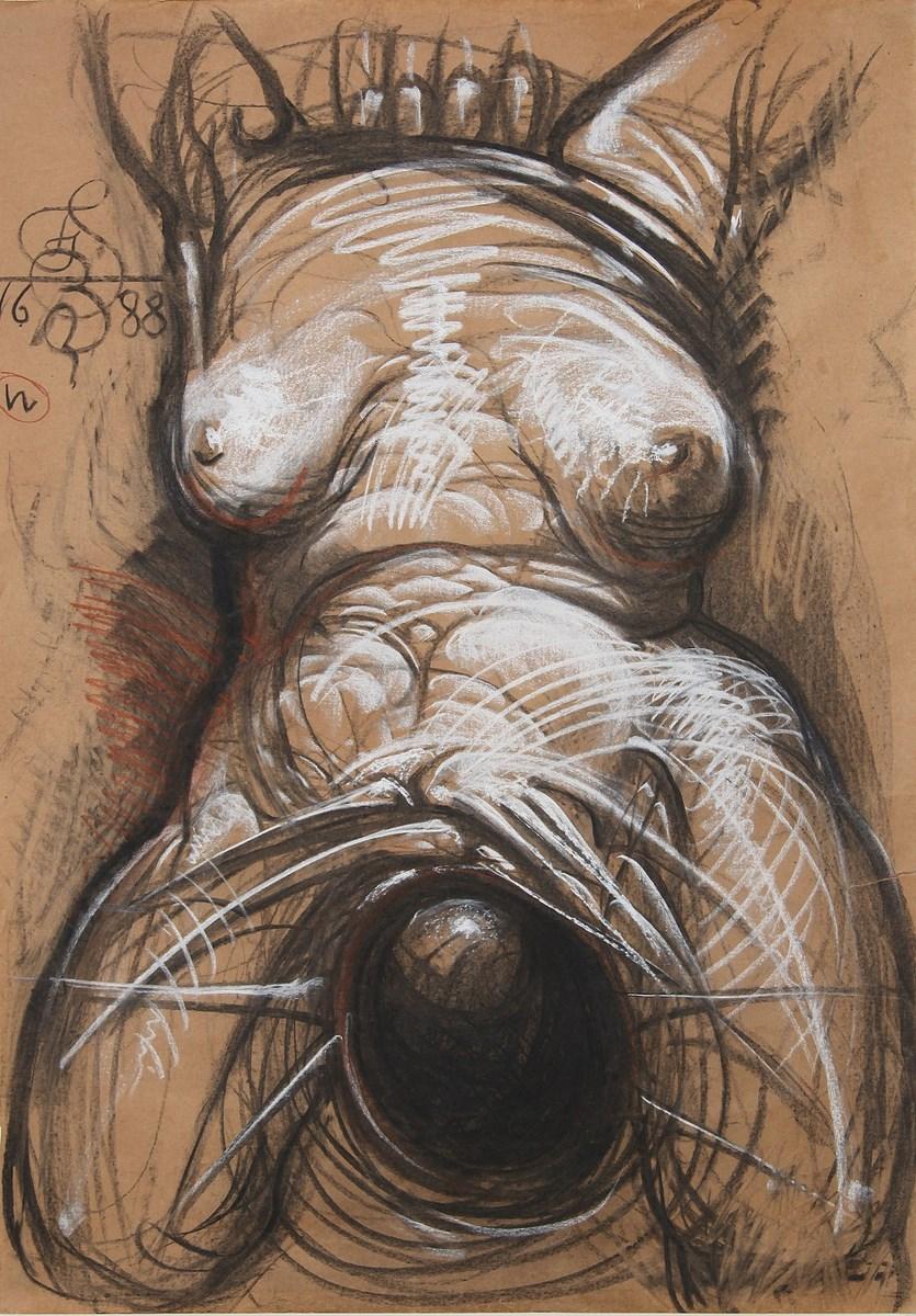 Franciszek Starowieyski, Bez tytułu, pastel, 50x32,5 cm, 1988 (źródło: materiały prasowe organizatora)