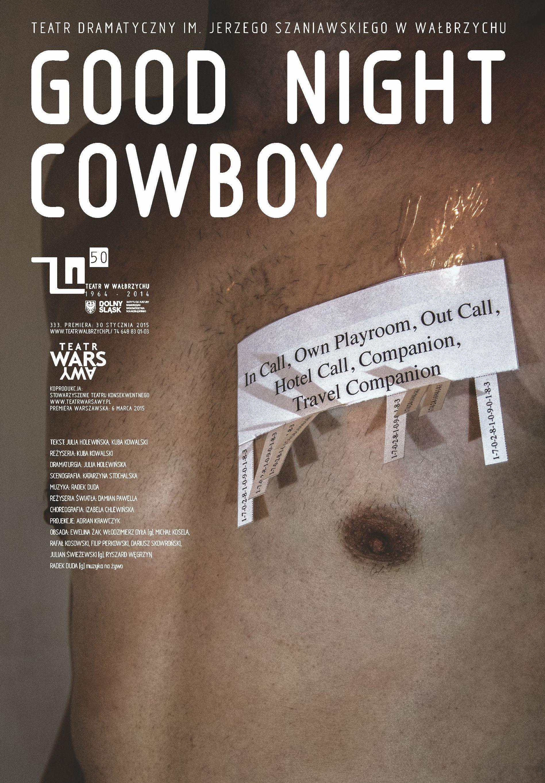 "Plakat ""Good Night Cowboy"" (źródło: materiały prasowe organizatora)"
