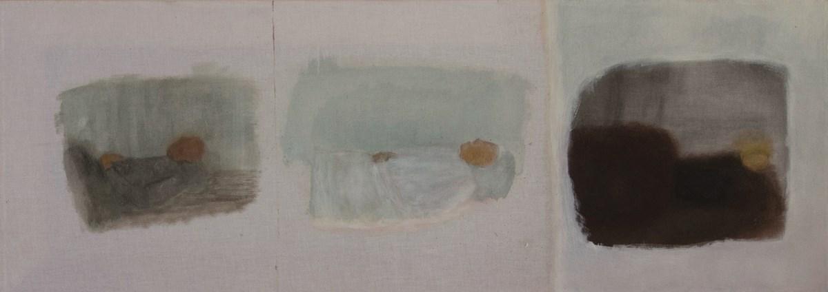 Marta Paciejewska, Bez tytułu, 2013, olej, 33x92 cm (źródło: materiały prasowe organizatora)
