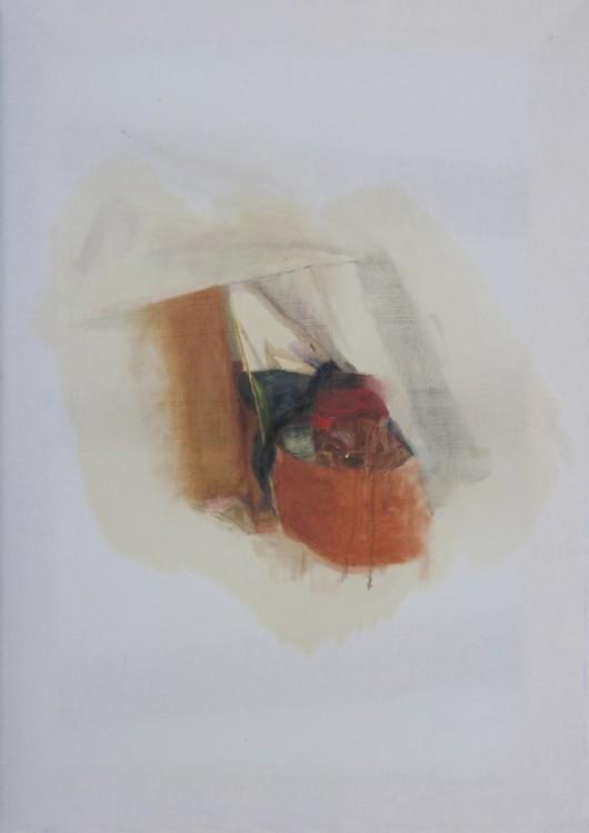 Marta Paciejewska, Bez tytułu, 2014, olej na bawełnie, 65x46 cm (źródło: materiały prasowe organizatora)