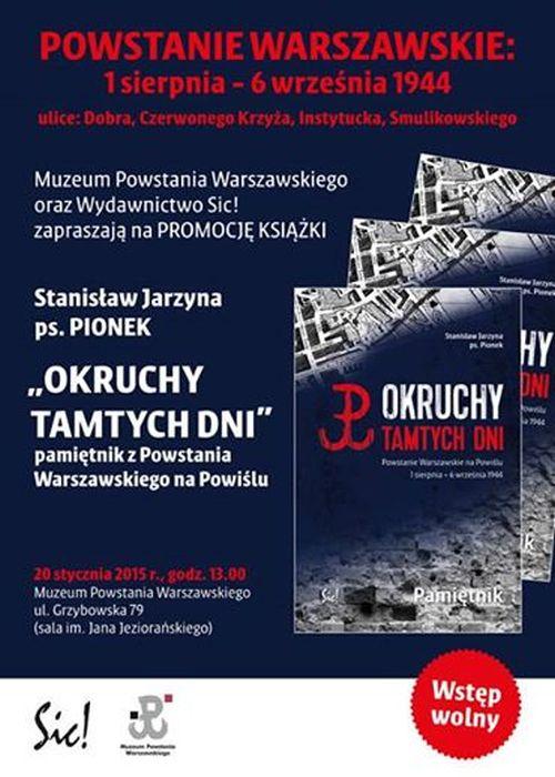"""Promocja książki Stanisława Jarzyny, """"Okruchy tamtych dni"""" (źródło: materiały prasowe)"""