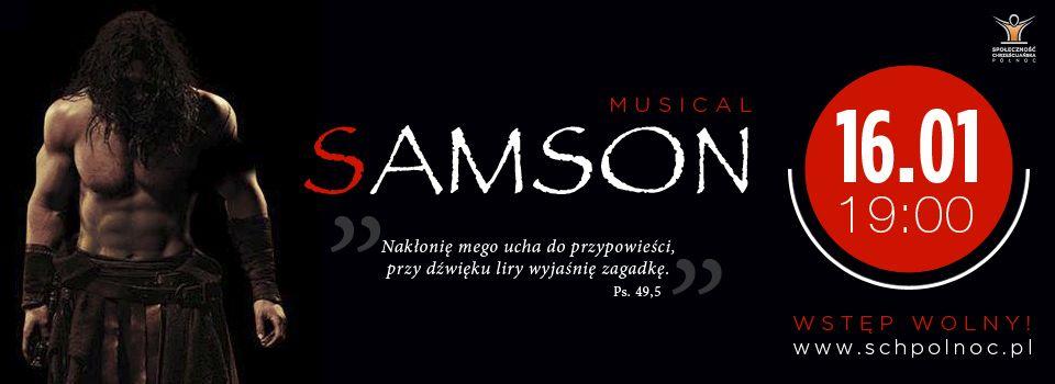 "Musical ""Samson"", plakat (źródło: materiały prasowe)"