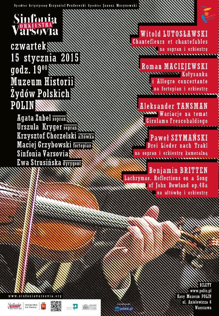 Sinfonia Varsovia muzyka XX i XXI wieku, plakat (źródło: materiały prasowe organizatora)