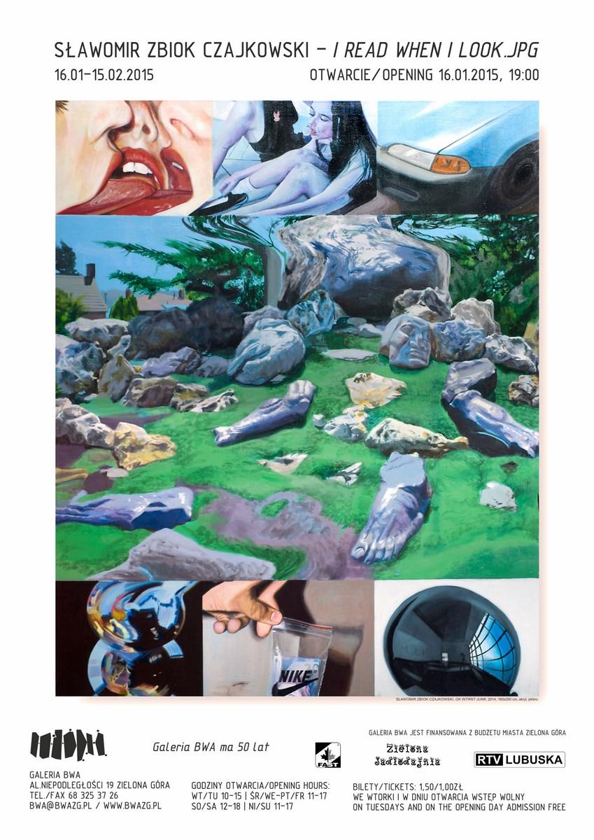 Sławomir Zbiok Czajkowski, BWA w Zielonej Górze, plakat wystawy (źródło: materiały prasowe organizatora)