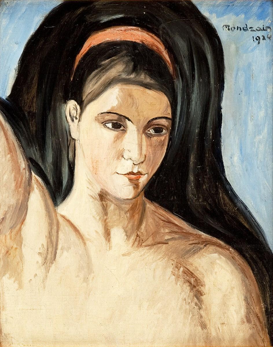 """Szymon Mondzain, """"Portret kobiety"""", 1924, olej na płótnie (źródło: materiały prasowe organizatora)"""
