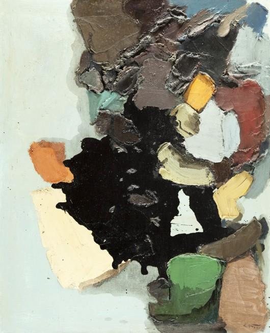 """Tadeusz Kantor, """"Kompozycja abstrakcyjna"""", 1961, olej na płótnie (źródło: materiały prasowe organizatora)"""