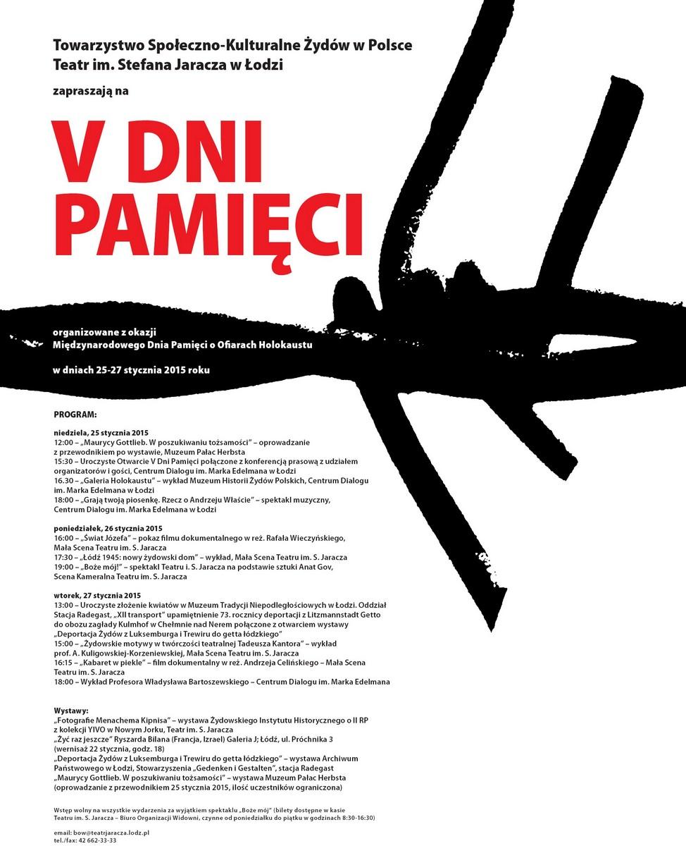 V Dni Pamięci – plakat (źródło: materiały prasowe organizatora)