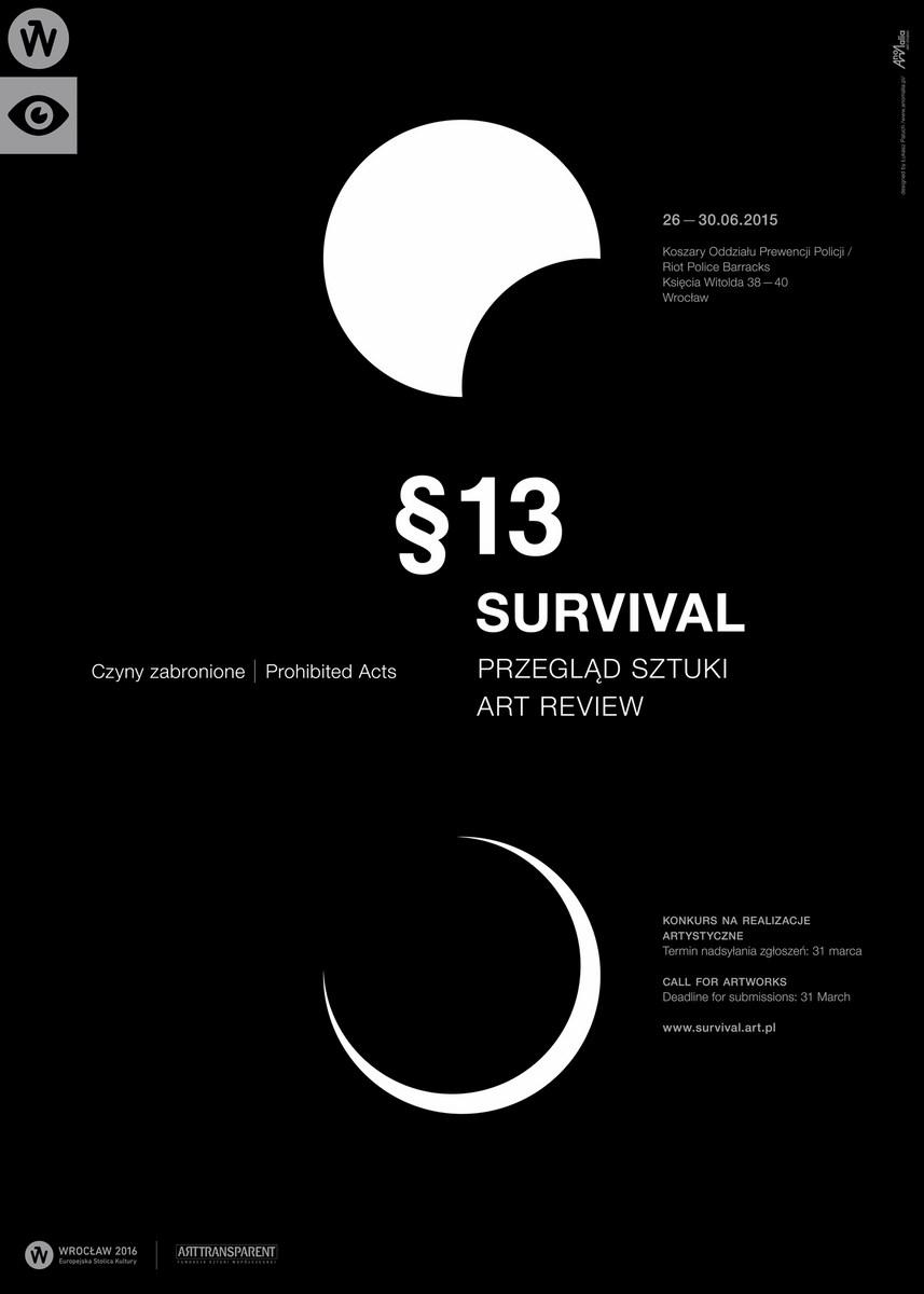 13. Przegląd Sztuki SURVIVAL, plakat (źródło: materiały prasowe organizatora)