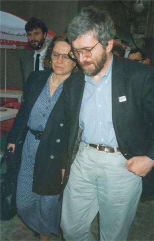 """""""Anna and Stanislaw Baranczak by Kubik"""" autorstwa Mariusz Kubik (źródło: licencja CC BY-SA 2.5 na podstawie Wikimedia Commons)"""