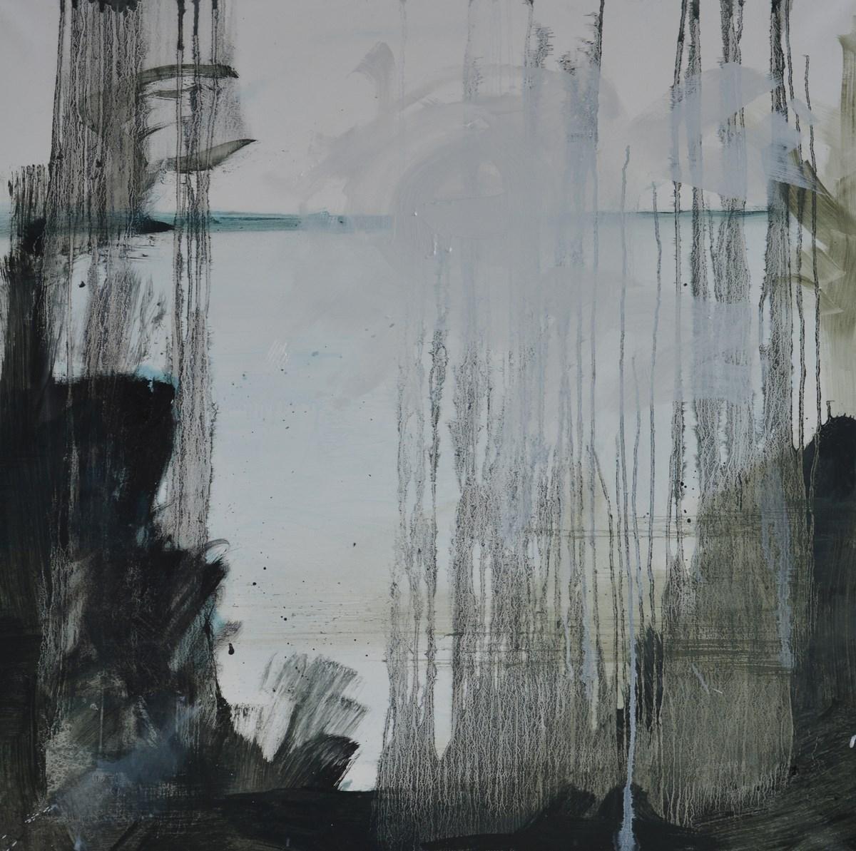 """Anna Orbaczewska-Niedzielska, """"Pejzaż czwarty z czterech"""", 100x100 cm, olej na płótnie, 2015 (źródło: materiały prasowe organizatora)"""