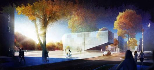 Budynek Gdyńskiej Szkoły Filmowej, wizualizacja (źródło: materiały prasowe organizatora)