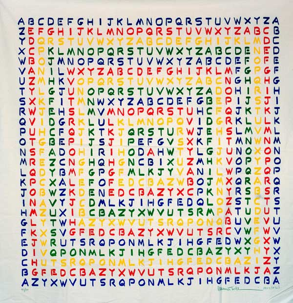 "Emmett Williams, ""Alphabet Square"" (źródło: materiały prasowe organizatora)"
