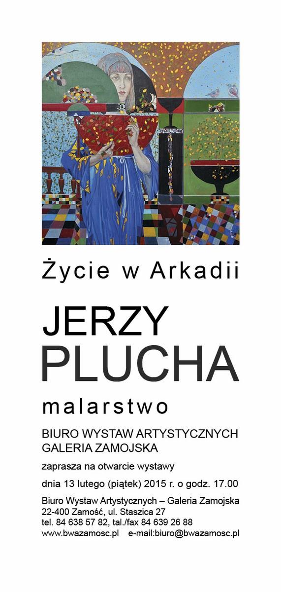 """Jerzy Plucha, """"Życie w Arkadii"""", BWA Galeria Zamojska, zaproszenie na wystawę (źródło: materiały prasowe organizatora)"""