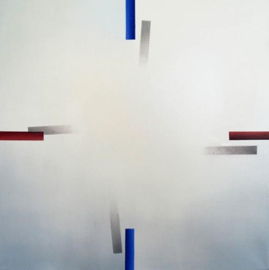 """Karolina Jaklewicz, """"EWNS"""", 70x70cm, olej na płótnie, 2014 (źródło: materiały prasowe organizatora)"""