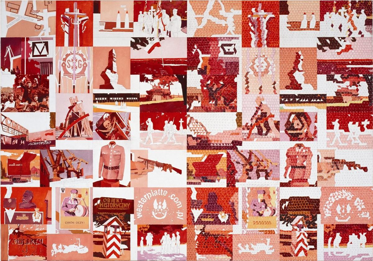 """Krzysztof Wróblewski, """"Stocznia i Westerplatte"""", cykl """"Izoformy"""", 2006, olej na płótnie, 140 x 200 cm (źródło: materiały prasowe organizatora)"""