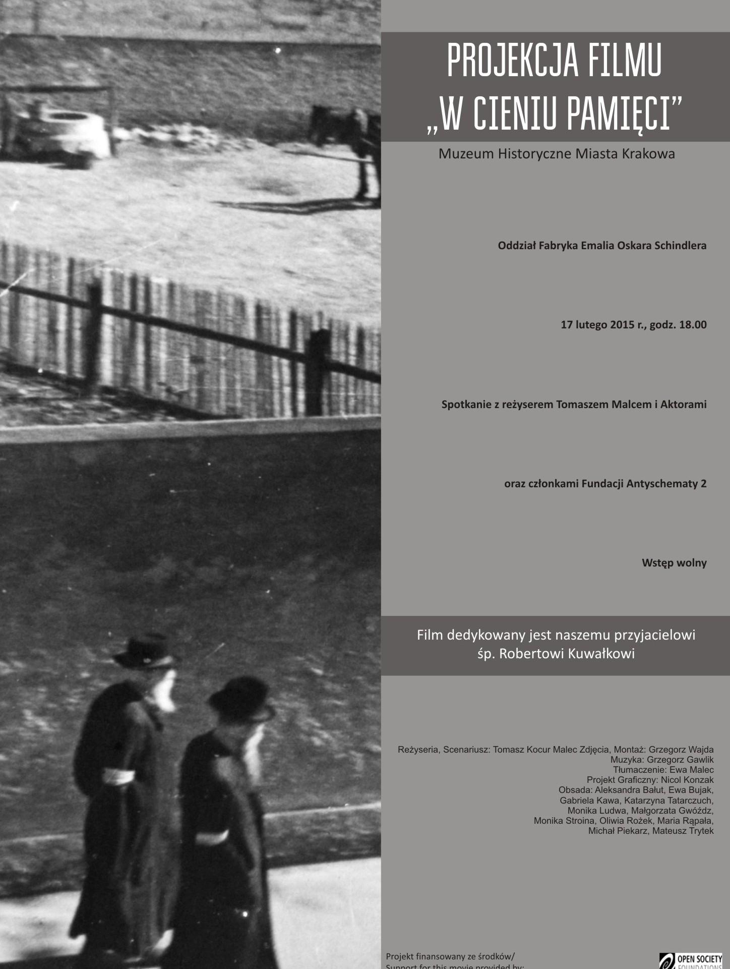 "Plakat ""W cieniu pamięci"" (źródło: materiały prasowe organizatora)"