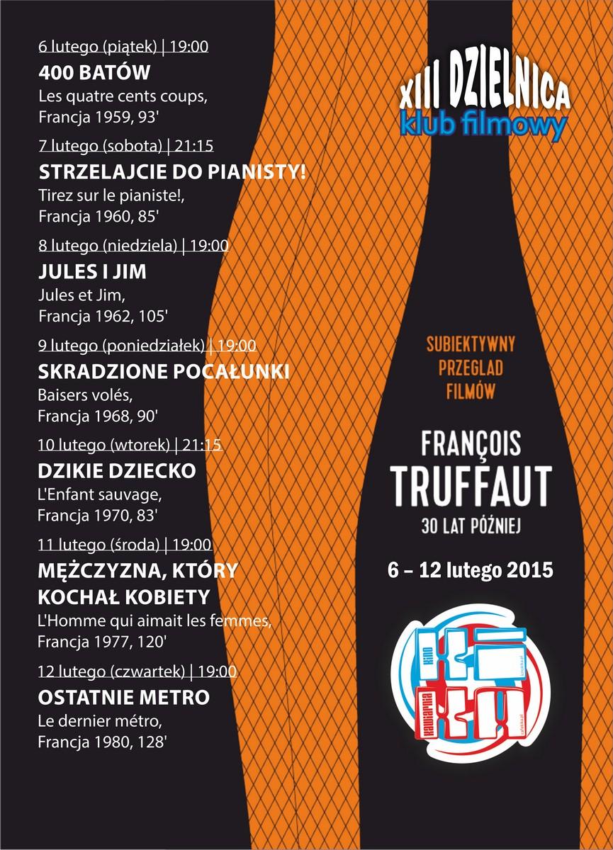 Subiektwyny przegląd filmów Francois Truffaut (źródło: materiały prasowe organizatora)