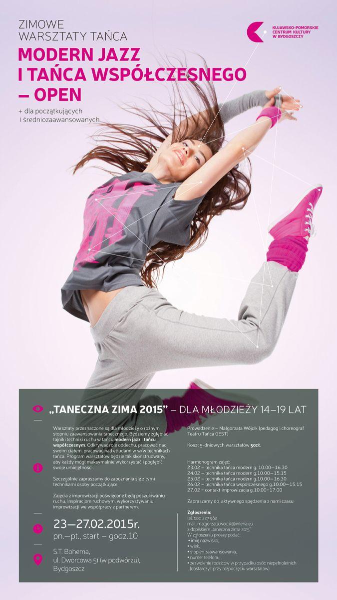 """""""Taneczna zima 2015"""", plakat (źródło: materiały prasowe)"""