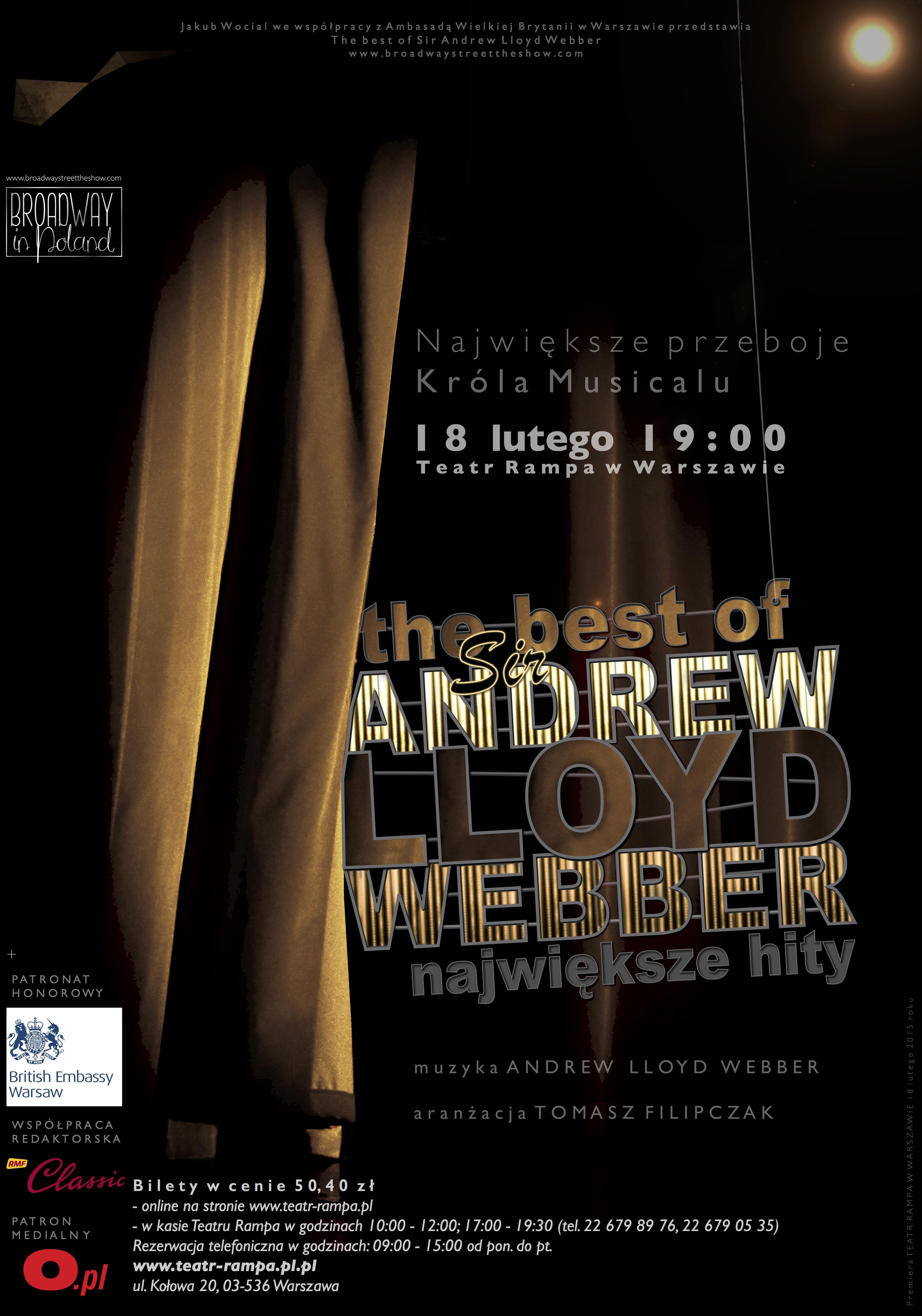 """The Best of Sir Andrew Lloyd Webber"", plakat (źródło: materiały prasowe organizatora)"