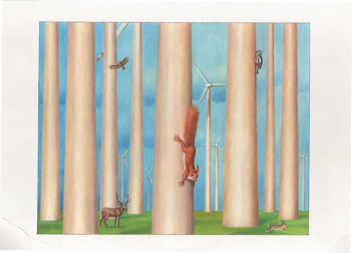 """Zbigniew Woźniak, """"Nowy las"""", 2013 (źródło: materiały prasowe organizatora)"""