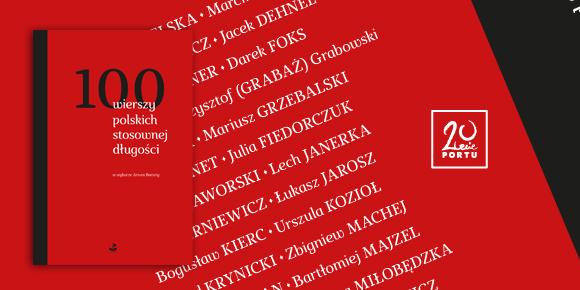 """""""100 wierszy polskich stosownej długości"""" – baner (źródło: materiały prasowe)"""