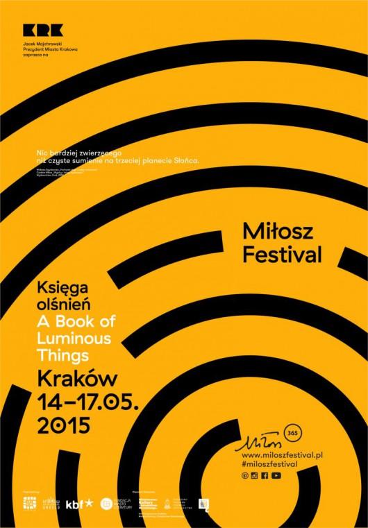 IV edycja Festiwalu Miłosza – plakat (źródło: materiał prasowy organizatora)