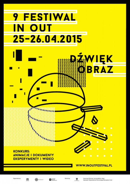 9. In Out Festiwal, plakat (źródło: materiały prasowe organizatora)