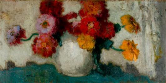 """Alfons Karpiński """"Kwiaty w wazonie, 1932 (źródło: materiały prasowe organizatora)"""""""