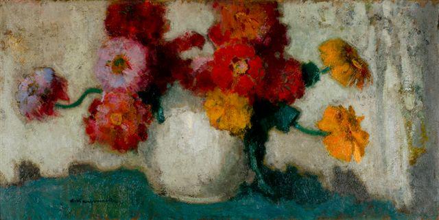 """Alfons Karpiński """"Kwiaty w wazonie"""", 1932 (źródło: materiały prasowe organizatora)"""