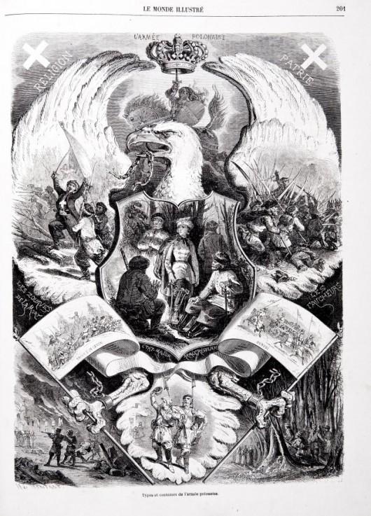 """Armia polska"", Charles Maurand wg rysunku Henry'ego de Montaut, ""Le Monde Illustré"" 28 marca 1863 (źródło: materiał prasowy organizatora)"