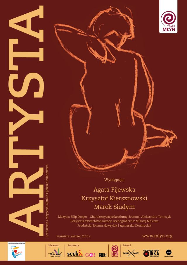 """""""Artysta"""", reż. Natalia Fijewska-Zdanowska – plakat (źródło: materiał prasowy organizatora)"""
