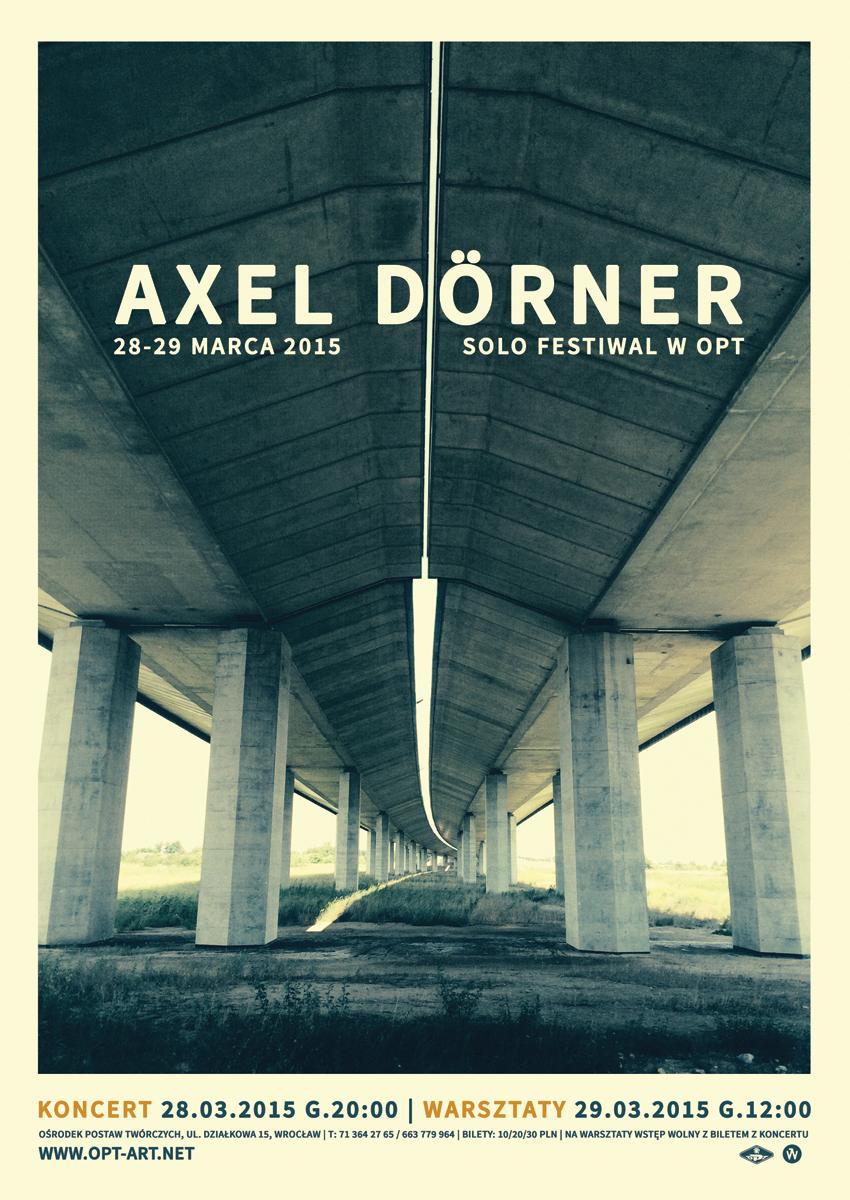 AXEL DÖRNER / Solo Festiwal, plakat (źródło: materiały prasowe)