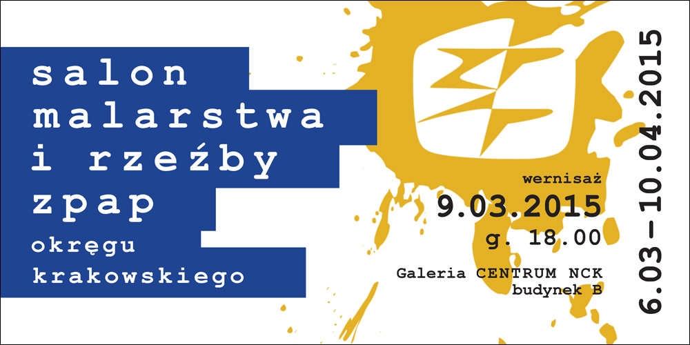 """Plakat wystawy """"Salon Malarstwa i Rzeźby ZPAP"""" (źródło: materiały prasowe organizatora)"""