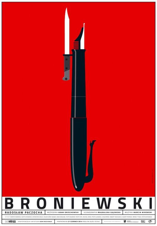 """""""Broniewski"""", reż. Adam Orzechowski – plakat (źródło: materiał prasowy organizatora)"""