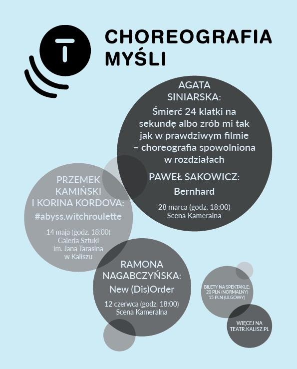 """""""Choreografia myśli"""", plakat (źródło: materiały prasowe organizatora)"""