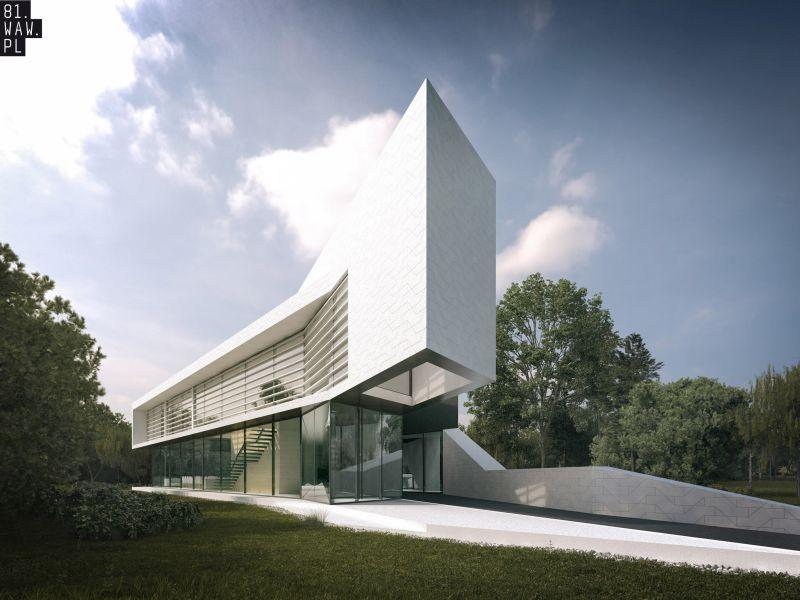 Dom biurowy, projekt: agencja 81.WAW.PL (źródło: materiał prasowy pracowni)