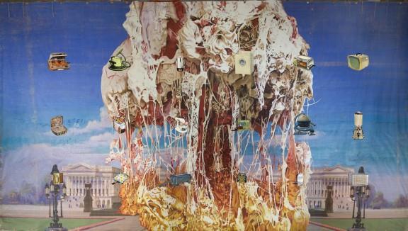 "Jim Shaw, ""Capitol Viscera Appliances"", mural, 2011, (źródło: materiały prasowe organizatora)"