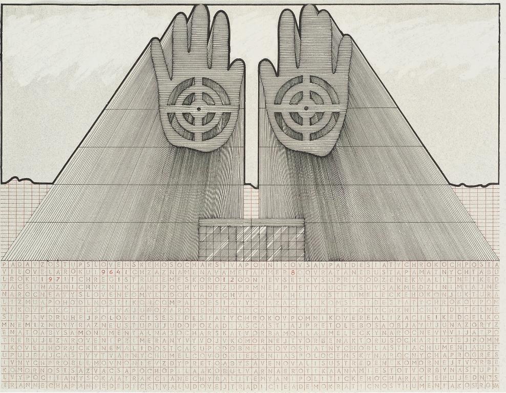 """Jozef Jankovič, """"Projekt pomnika Słowaka"""", 1976 (źródło: materiały prasowe organizatora)"""