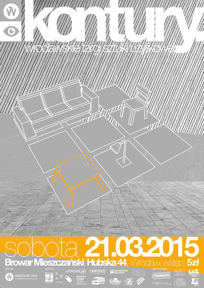 "2. Targi Sztuki Użytkowej "" Kontury"", plakat (źródło: materiały prasowe organizatora)"