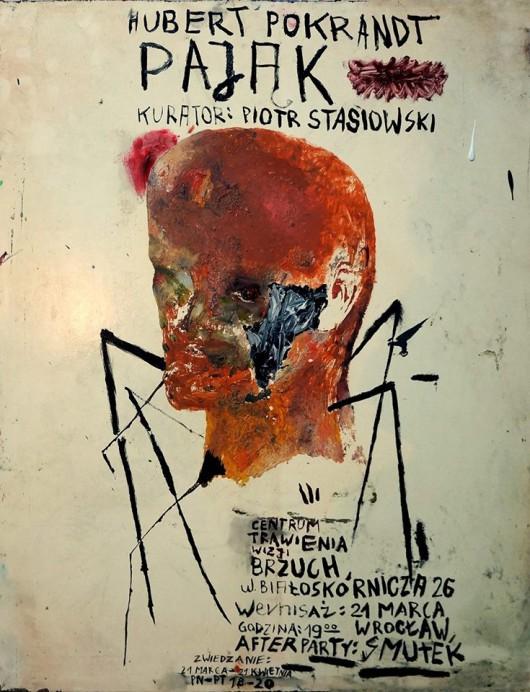 """Plakat wystawy Huberta Pokrandta """"Pająk"""" (źródło: materiały prasowe organizatora)"""