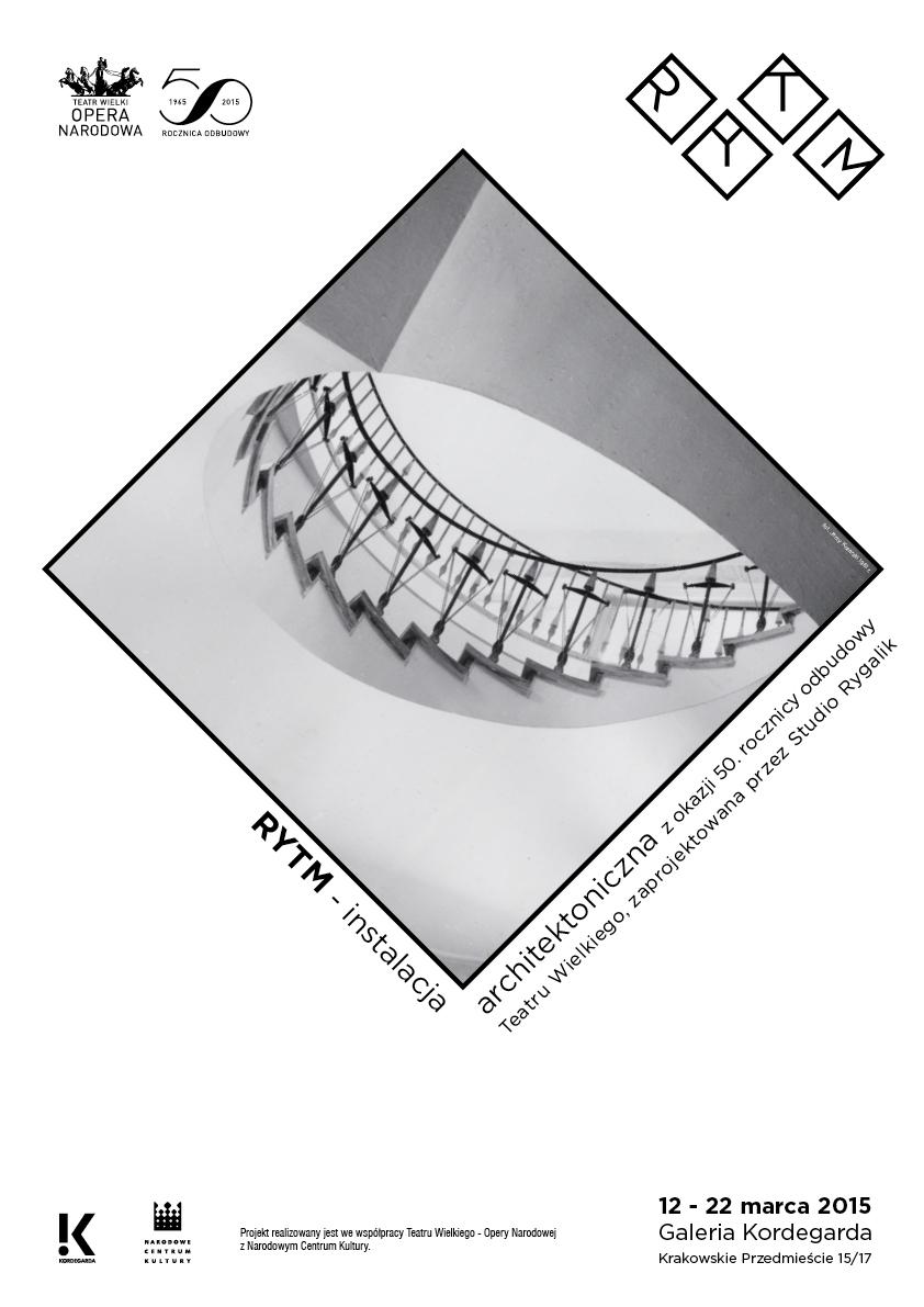 """Plakat wystawy """"Rytm"""" (źródło: materiały prasowe organizatora)"""