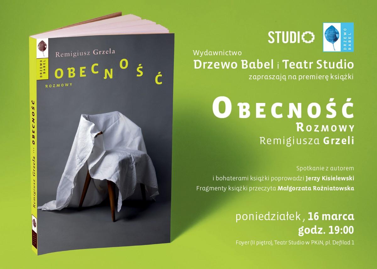 Remigiusz Grzela w Teatrze Studio – plakat (źródło: materiały prasowe organizatora)
