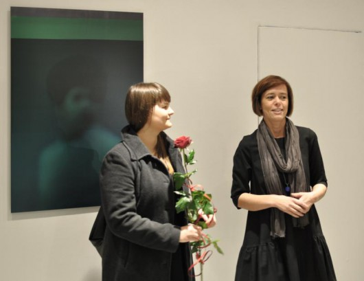 Zdjęcie z wernisażu wystawy Magdaleny Żołędź 01 (źródło: Galeria Sztuki Współczesnej w Opolu)