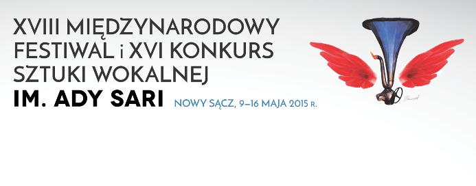 XVIII Międzynarodowy Festiwal i XVI Konkurs Sztuki Wokalnej im. Ady Sari – logo (źródło: materiał prasowy organizatora)