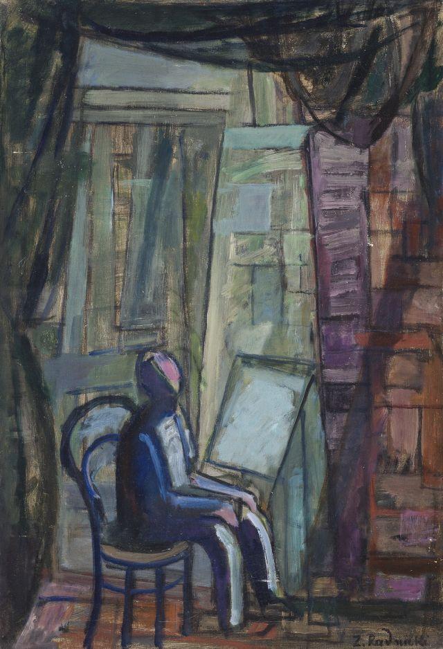 """Zygmunt Radnicki """"W pracowni"""", 1965, olej, płótno, Muzeum Narodowe w Krakowie (źródło: materiał prasowy organizatora)"""