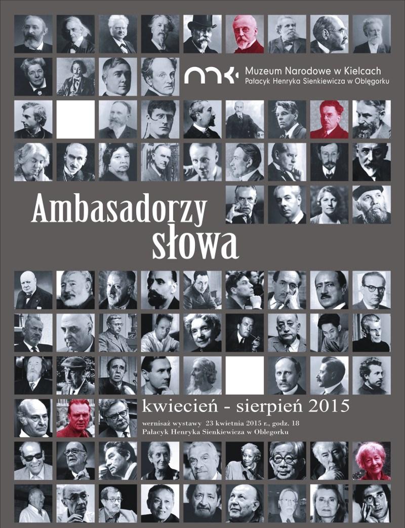 """""""Ambasadorzy słowa"""" – plakat (źródło: materiały prasowe)"""