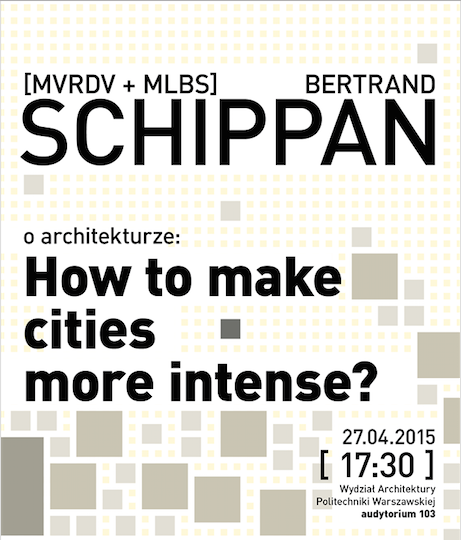 "Betrand Schippan, wykład ""How to make cities more intense?"" (źródło: materiały prasowe organizatora)"